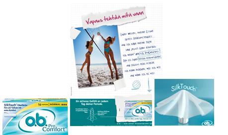 o.b.® ProComfort™ -tamponit yhdistävät o.b.®-tamponien parhaat puolet yhteen tuotteeseen: kaartuvat urat takaavat varman suojan, ja ainutlaatuisen pehmeän SilkTouch™-pinnan ansiosta tamponi on helppo asettaa ja poistaa. - o.b.® tamponit