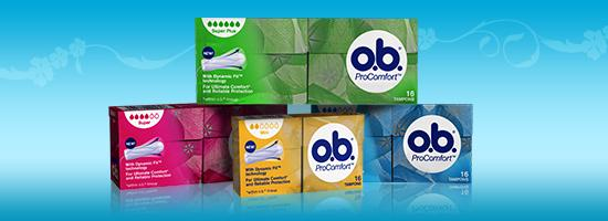 o.b.® ProComfort Normal tamponit &  o.b.® Compact Applicator Normal tamponit