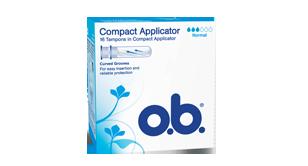 o.b.® Compact Applicator Normal tamponit
