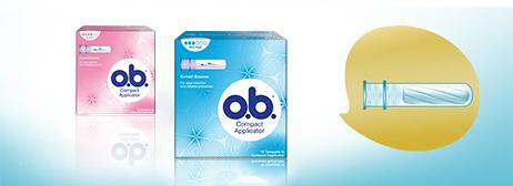 o.b.® Compact Applicator Normal & Super tamponit